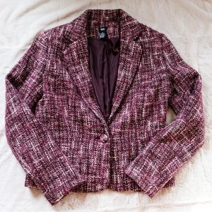 Mossimo Women's Wool Blend Tweed Fitted Blazer